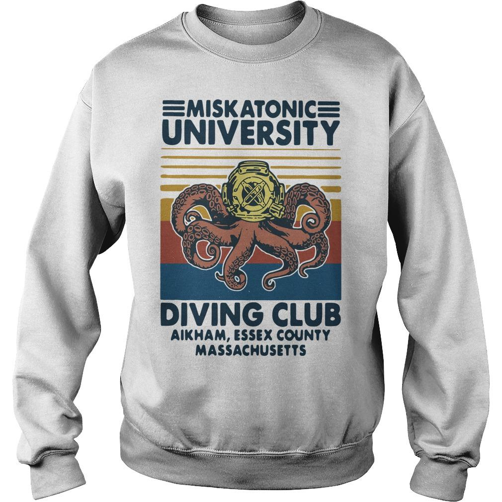 Vintage Miskatonic University Diving Club Aikham Essex County Sweater