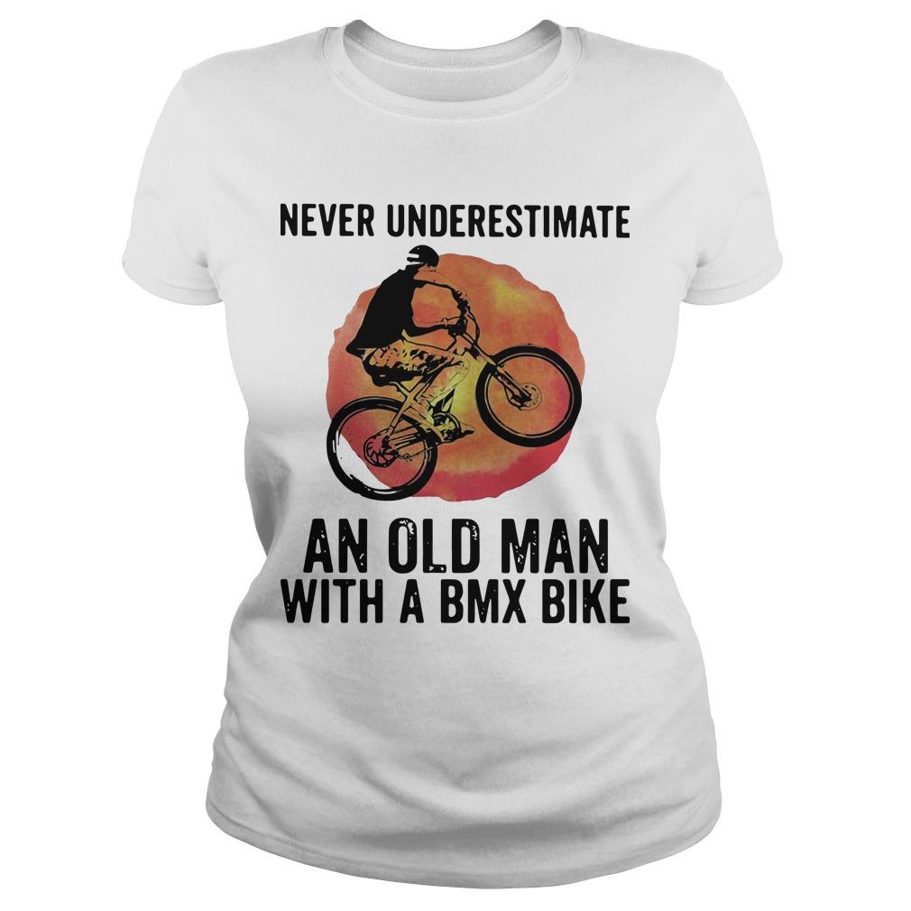 Vintage Never Underestimate An Old Man With A Bmx Bike Longsleeve