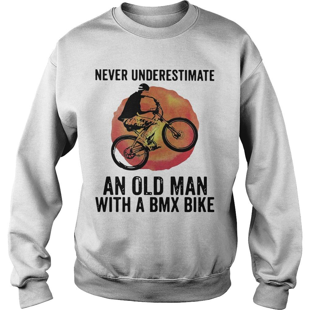 Vintage Never Underestimate An Old Man With A Bmx Bike Sweater