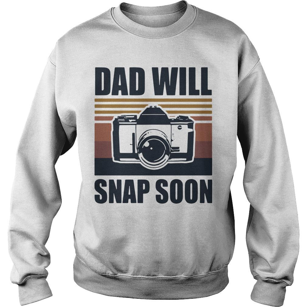 Vintage Photographer Dad Will Snap Soon Sweater