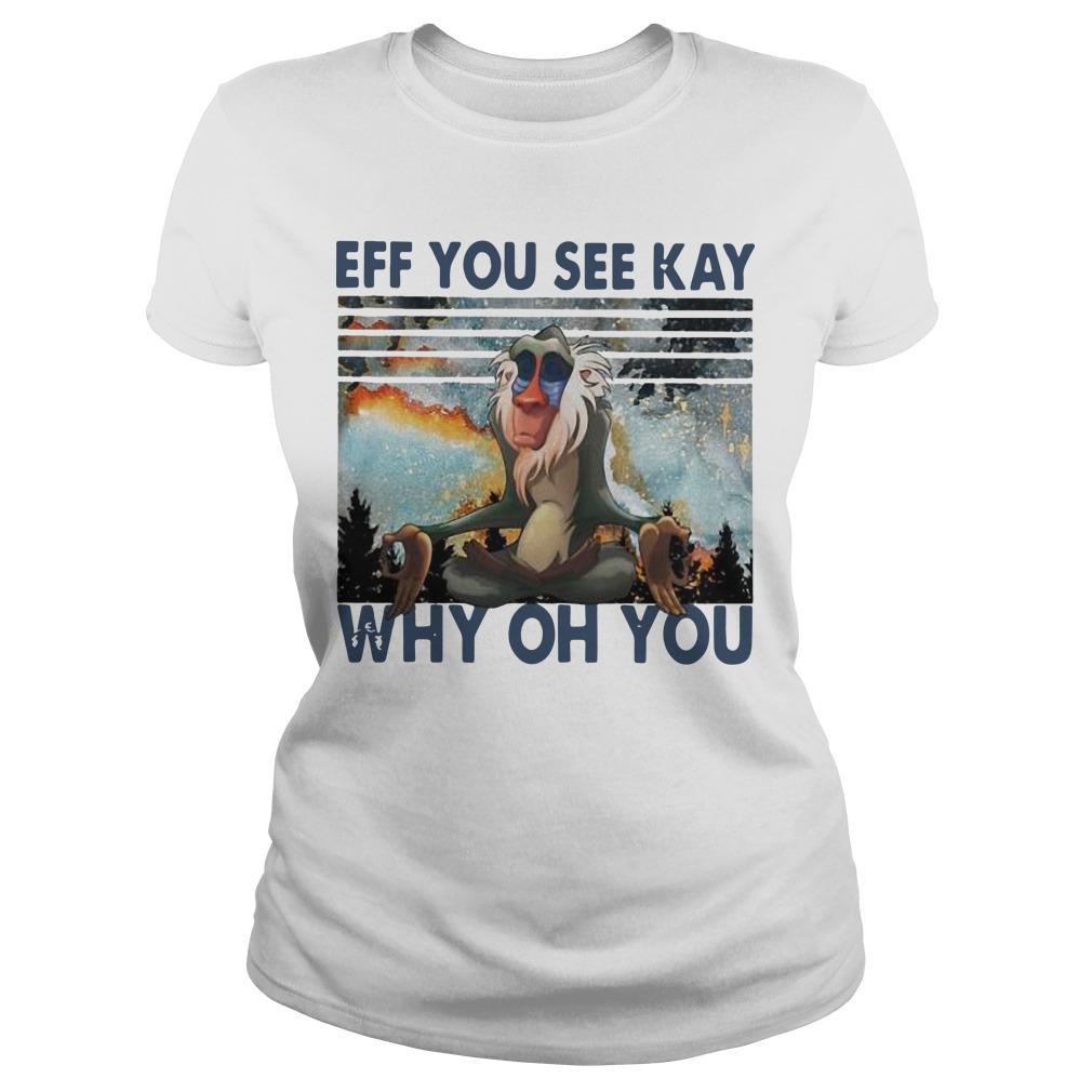 Vintage Rafiki Eff You See Kay Why Oh You Longsleeve