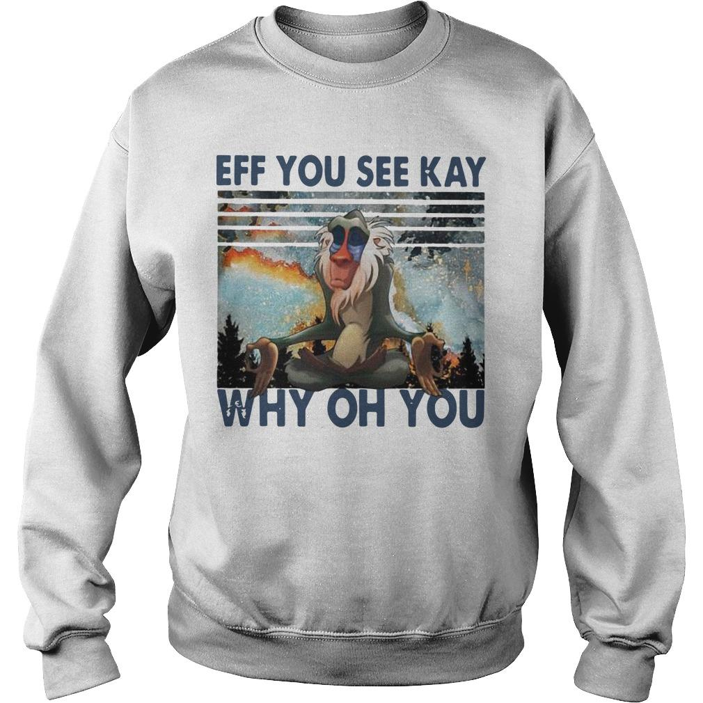 Vintage Rafiki Eff You See Kay Why Oh You Sweater