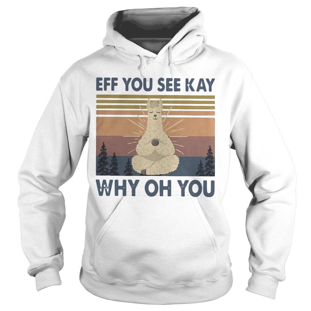 Vintage Sheep Yoga Eff You See Kay Why Oh You Hoodie