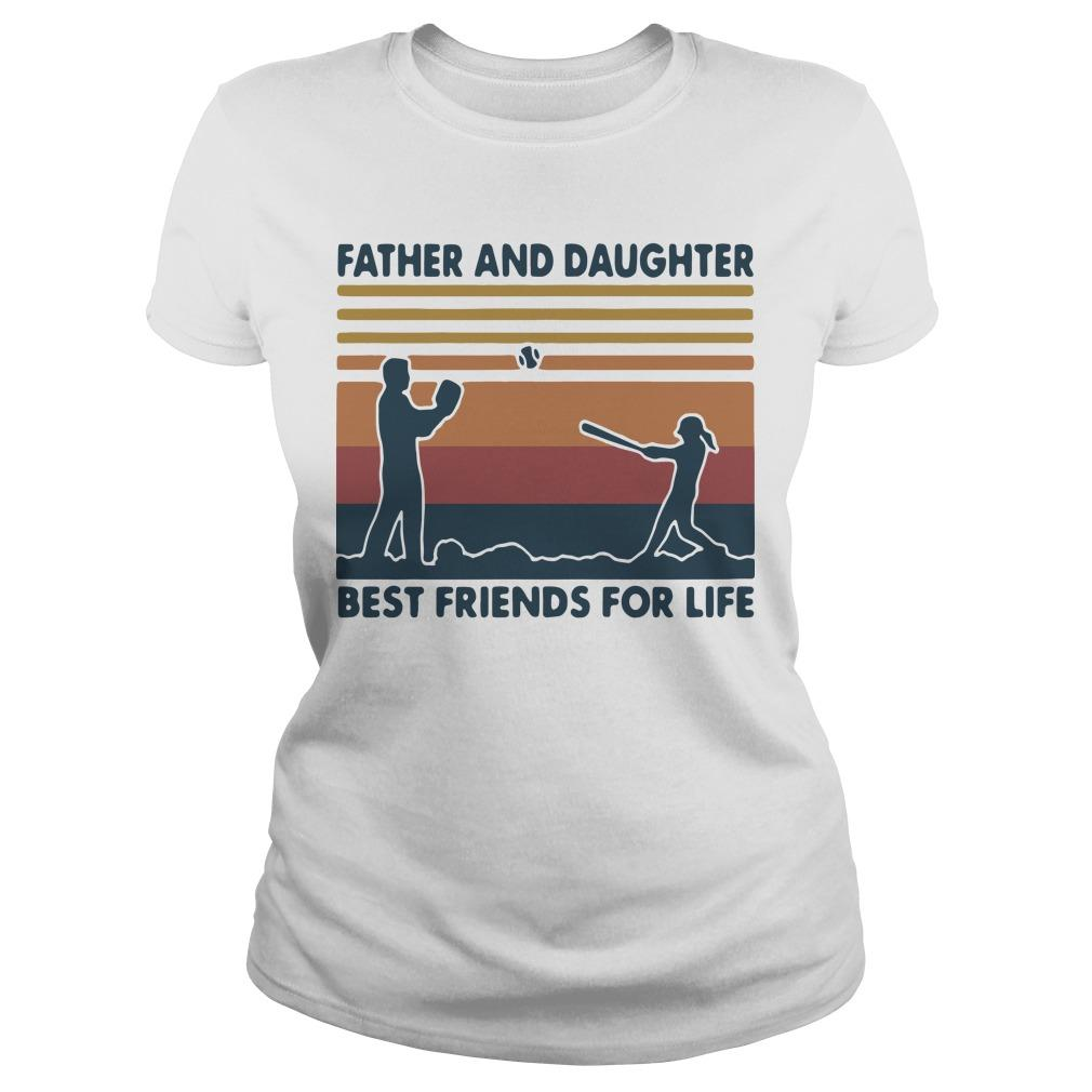 Vintage Softball Father And Daughter Best Friends For Life Longsleeve