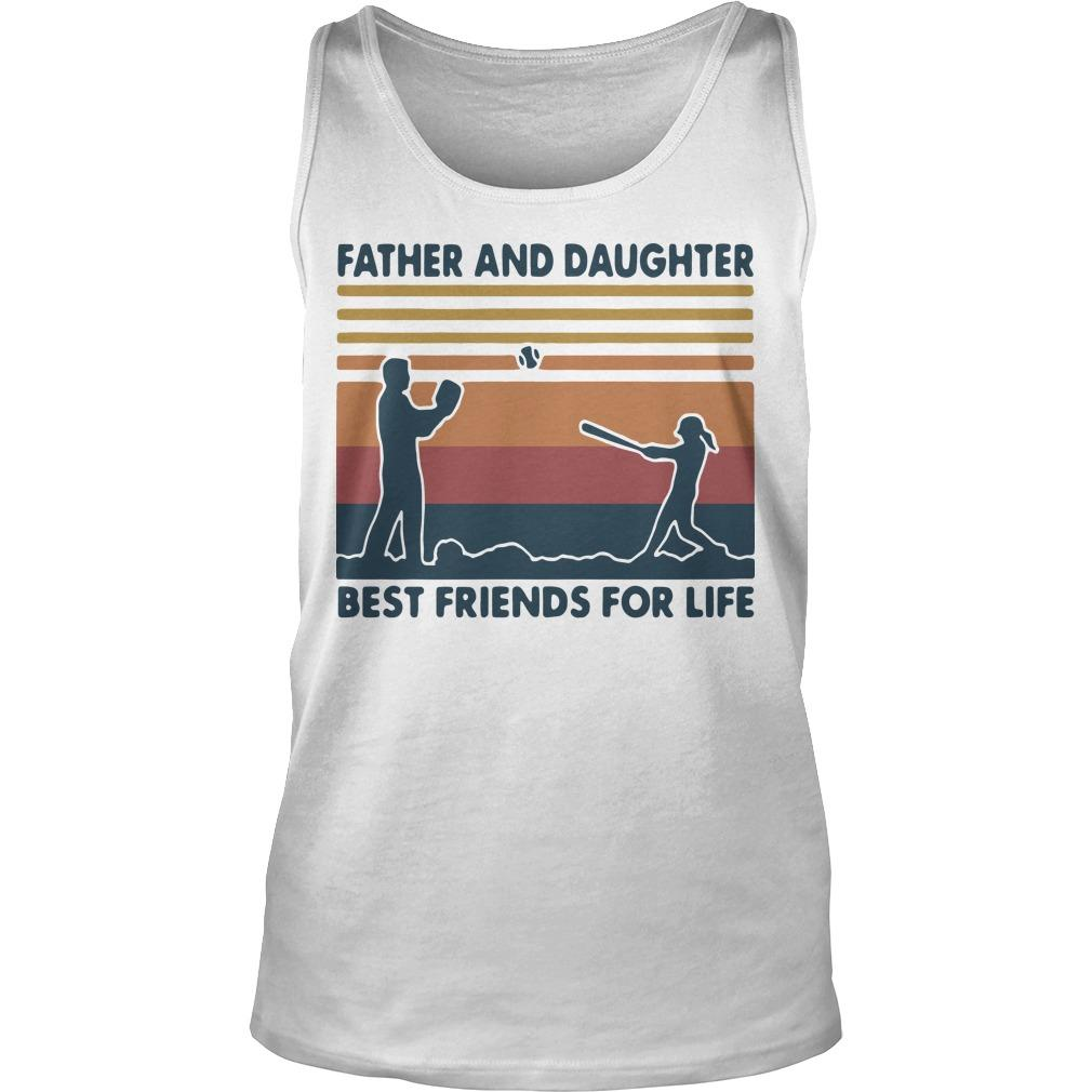 Vintage Softball Father And Daughter Best Friends For Life Tank Top