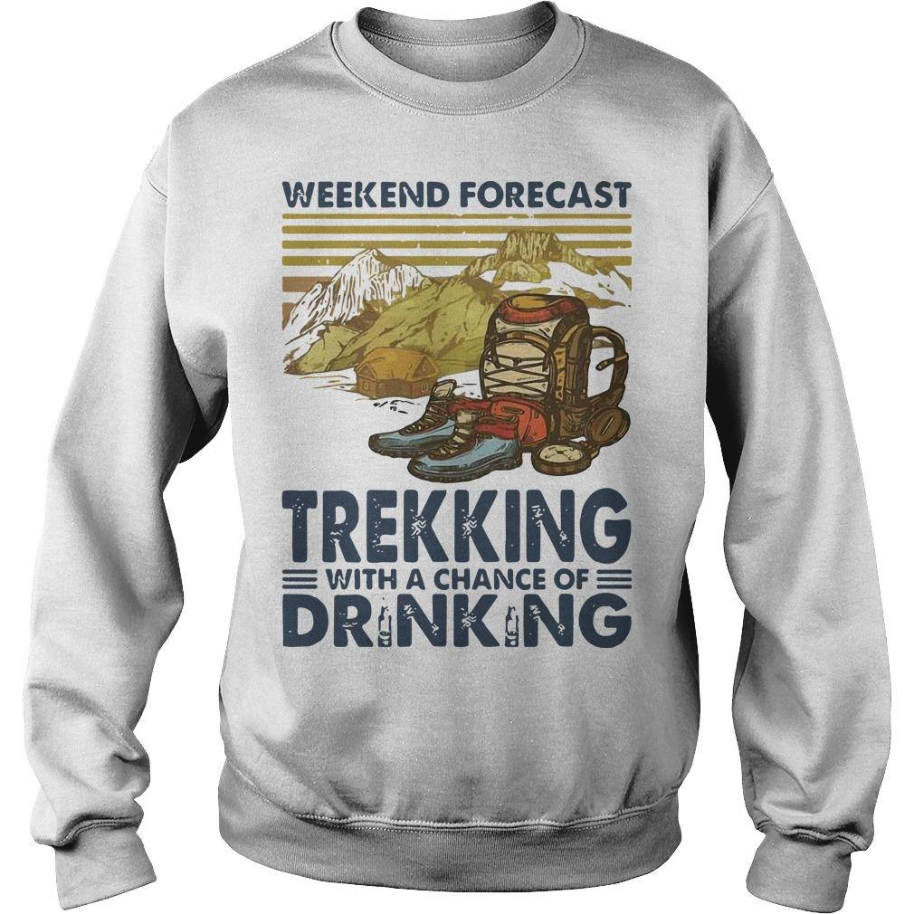 Vintage Weekend Forecast Trekking With A Chance Of Drinking Sweater
