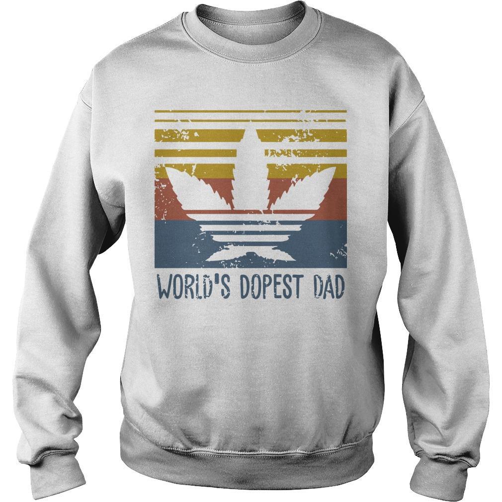 Vintage World's Dopest Dad Sweater
