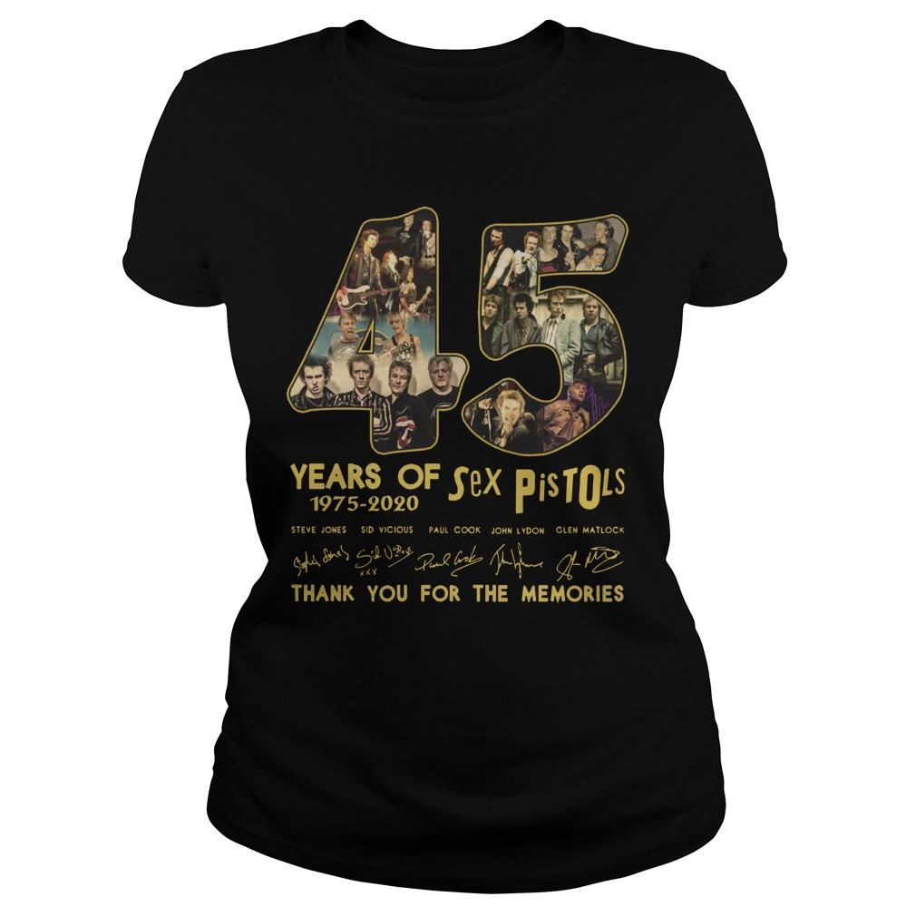 45 Years Of Sex Pistols Thank You For The Memories Longsleeve