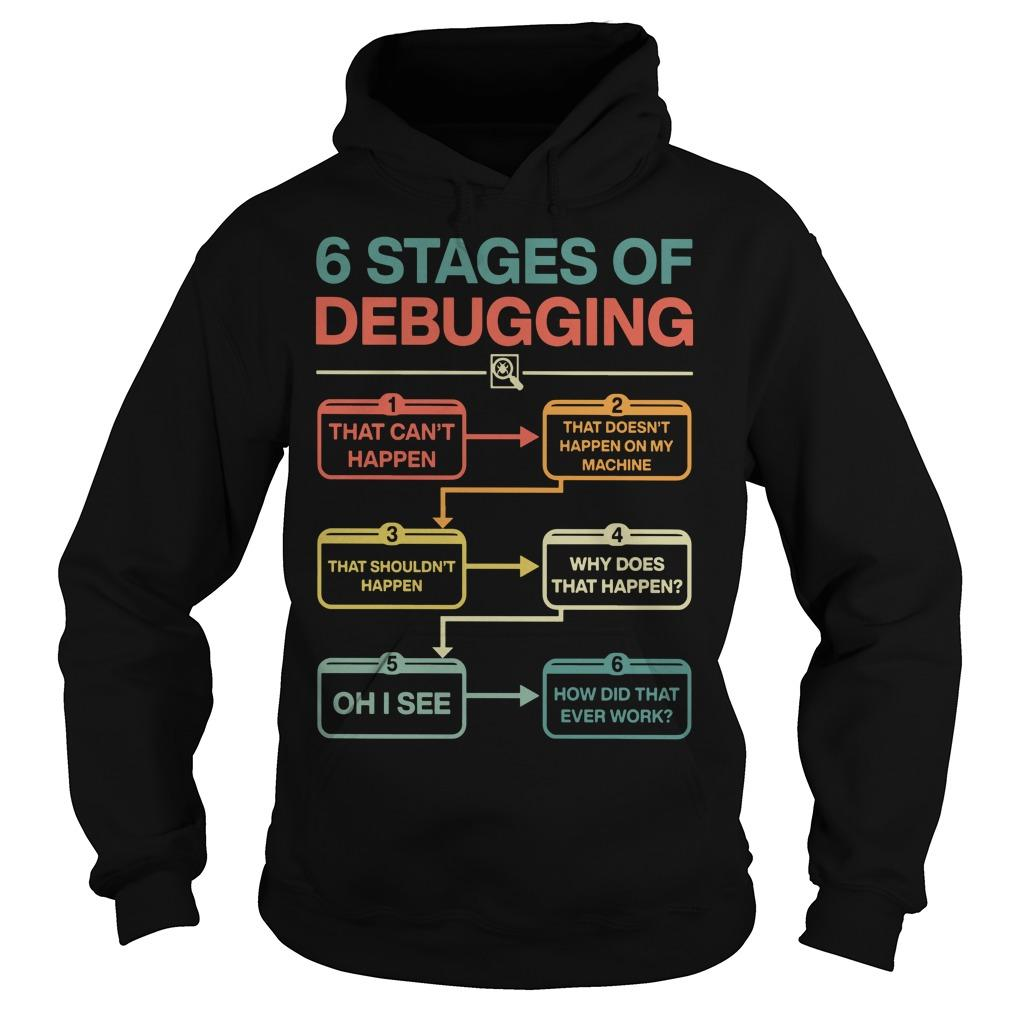 6 Stages Of Debugging Hoodie
