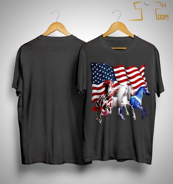 American Flag Horses Shirt