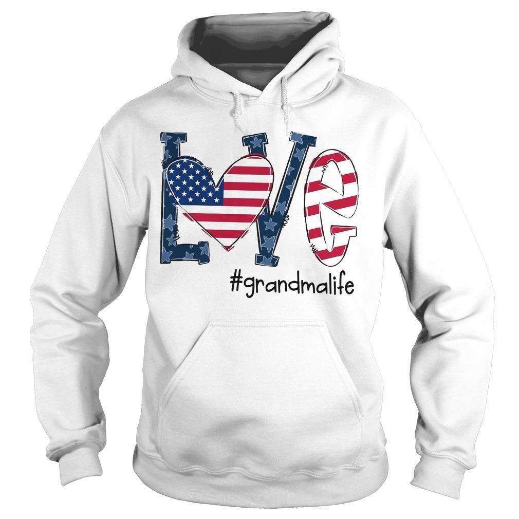 American Flag Love #grandmalife Hoodie