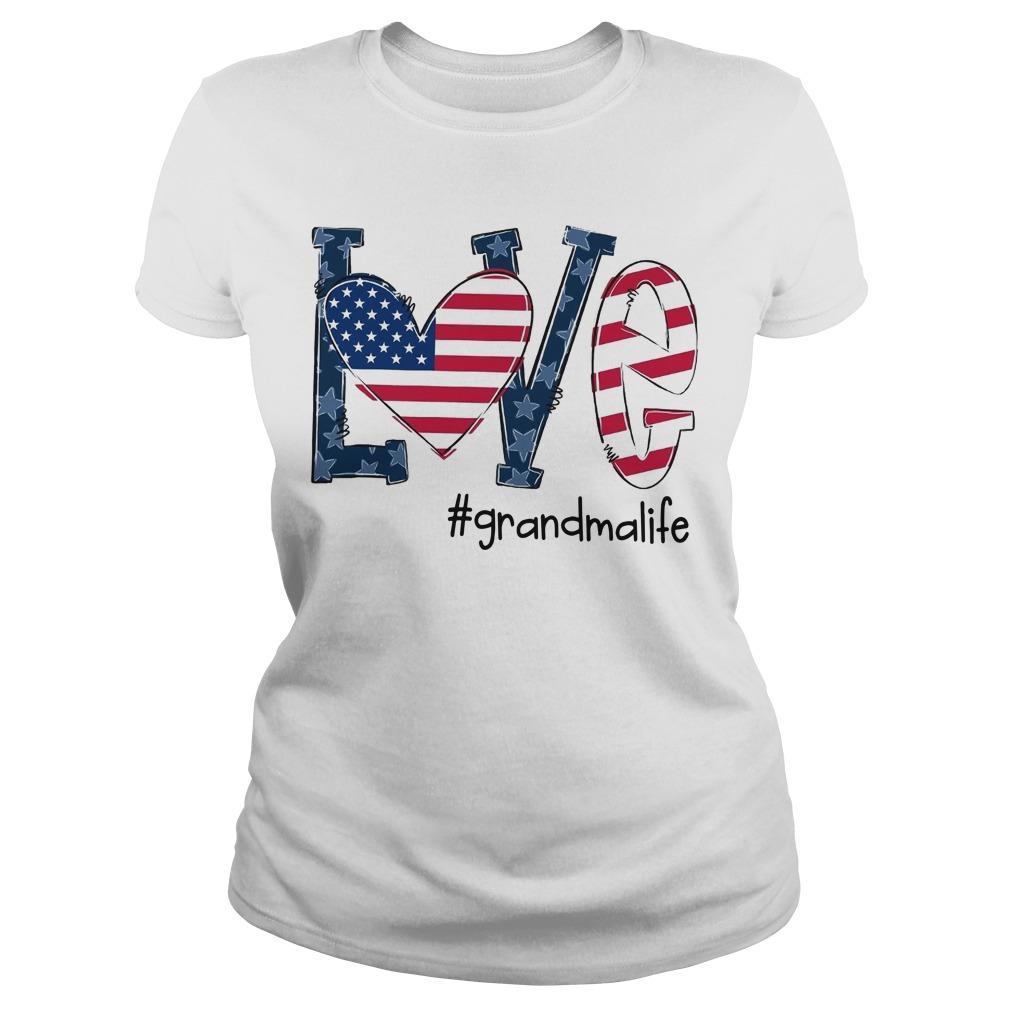 American Flag Love #grandmalife Longsleeve