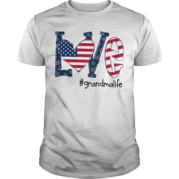 American Flag Love #grandmalife Shirt