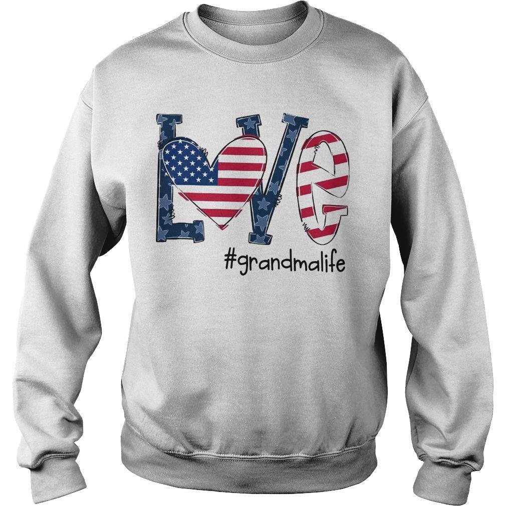 American Flag Love #grandmalife Sweater