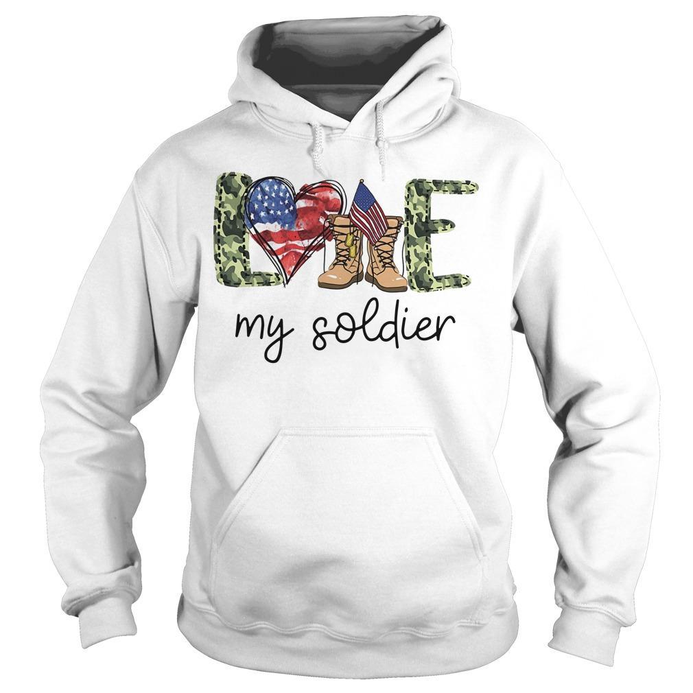 American Love My Soldier Hoodie