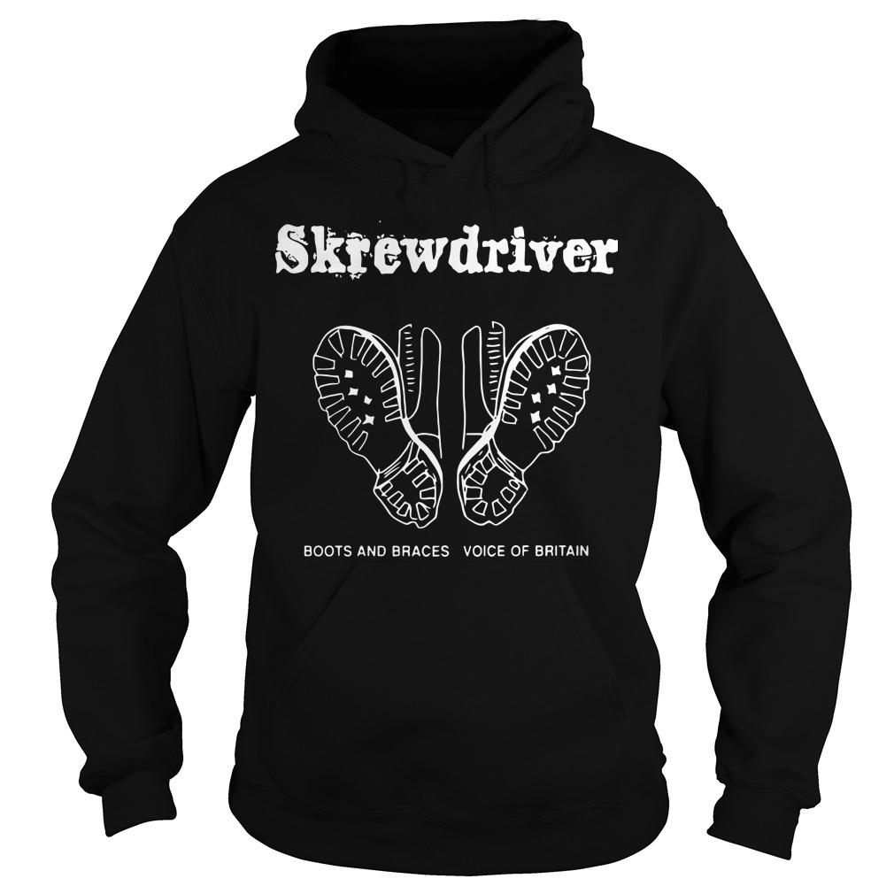 Boots And Braces Voice Of Britain Skrewdriver Hoodie