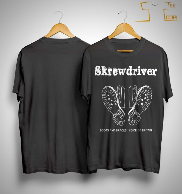 Boots And Braces Voice Of Britain Skrewdriver Shirt