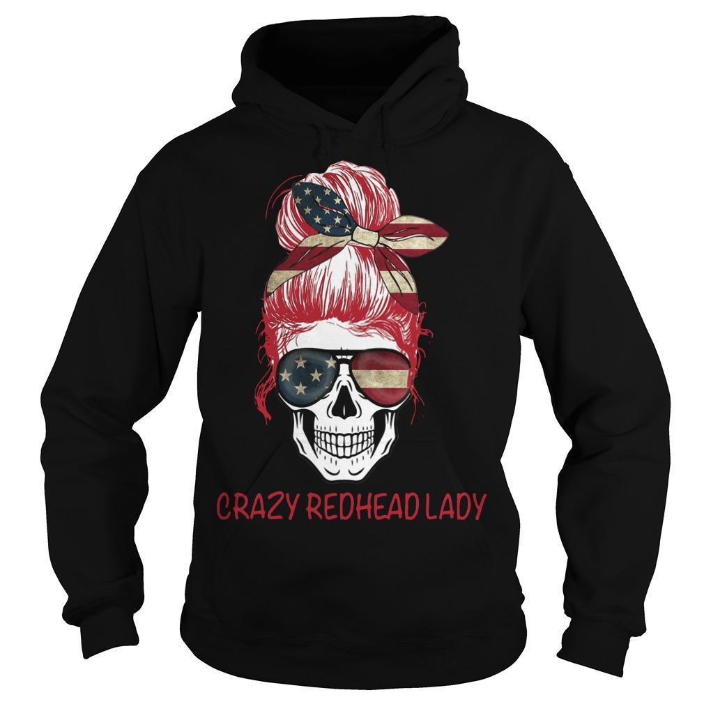 Crazy Redhead Lady Hoodie