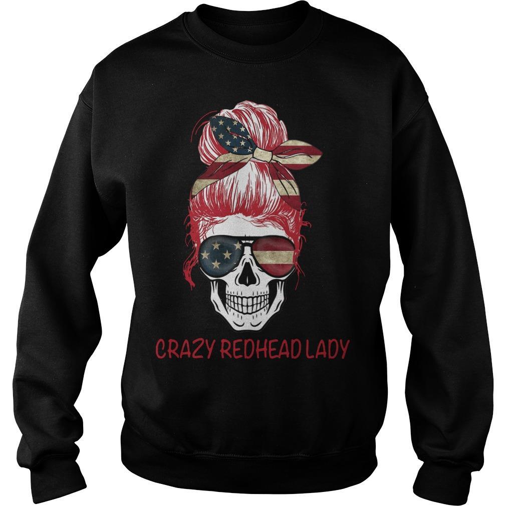Crazy Redhead Lady Sweater