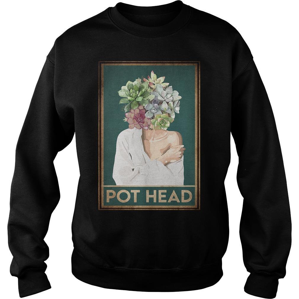 Girl Garden Pot Head Sweater