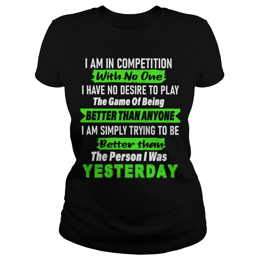 I Am In Competition With No One I Have No Desire To Play The Game Longsleeve