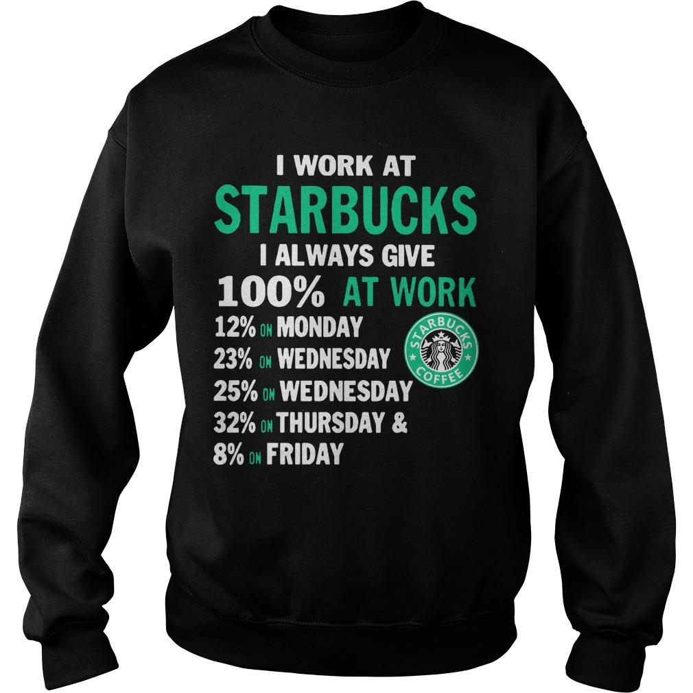 I Work At Starbucks I Always Give 100% At Work Sweater