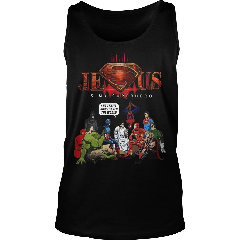 Jesus Is My Superhero Tank Top