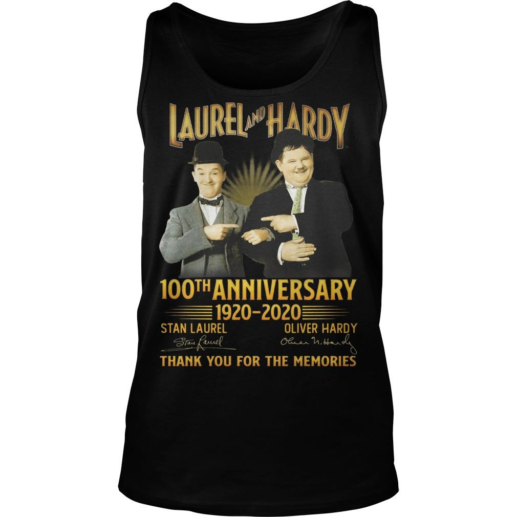 Laurel And Hardy 100th Anniversary 1920 2020 Thank You For The Memories Tank Top