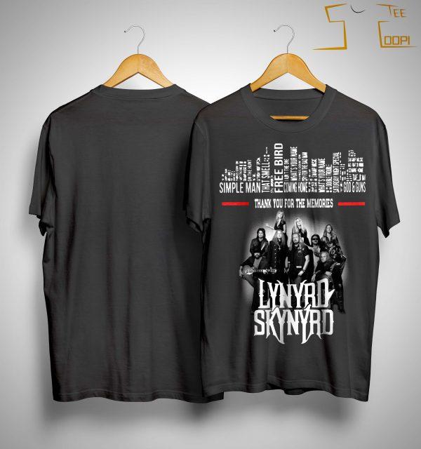 Lynyrd Skynyrd Simple Man Thank You For The Memories Shirt
