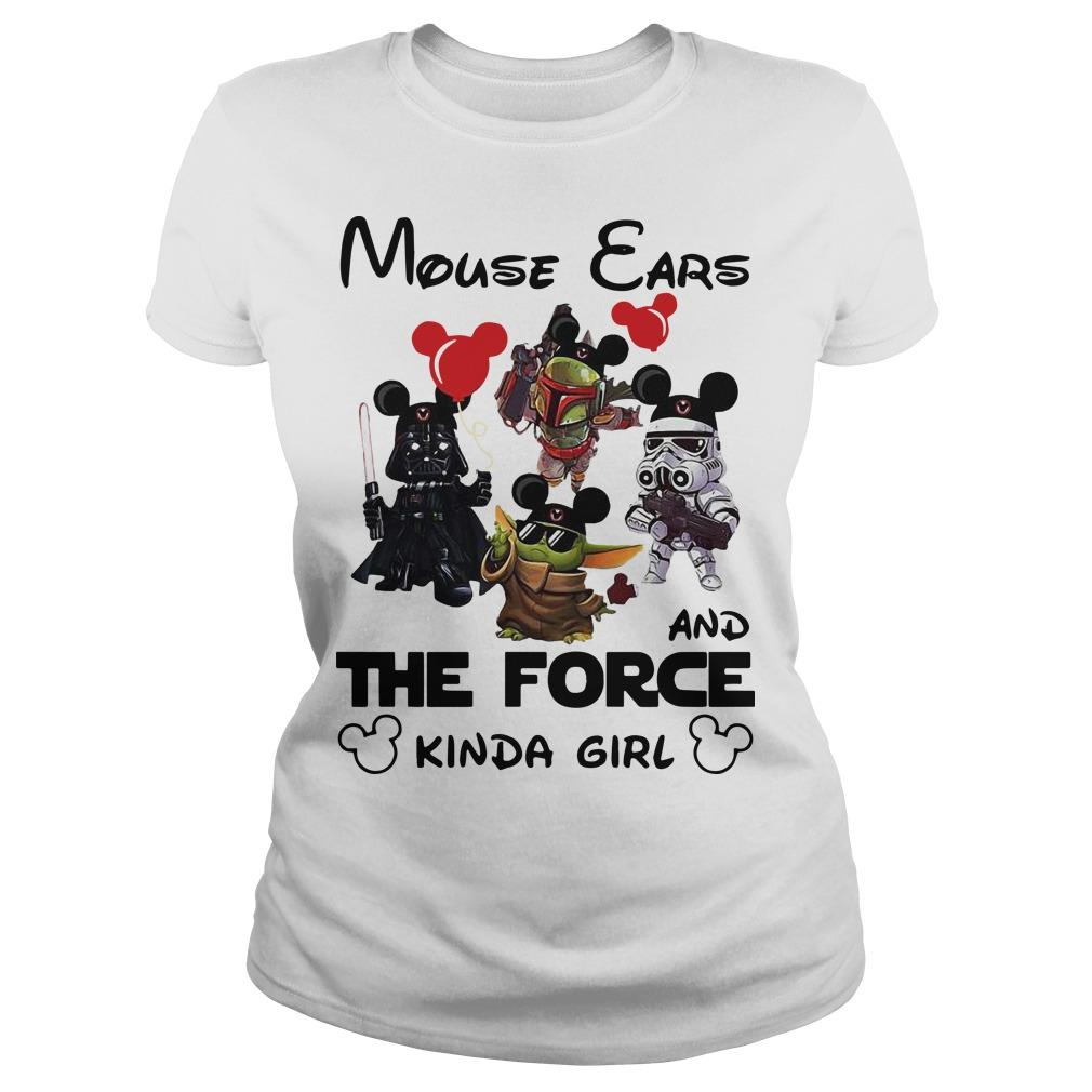 Mickey Mouse Ears And The Force Kinda Girl Longsleeve