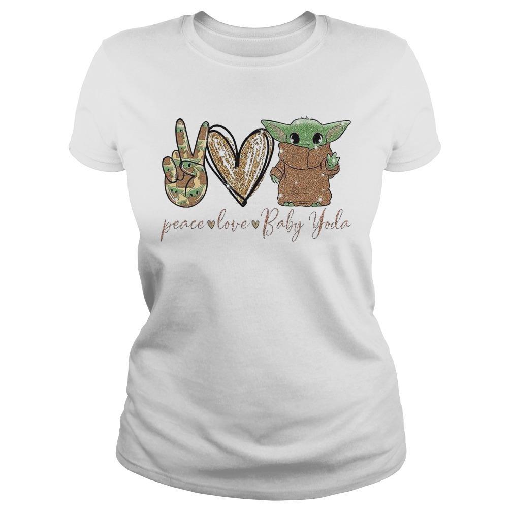 Peace Love Baby Yoda Longsleeve