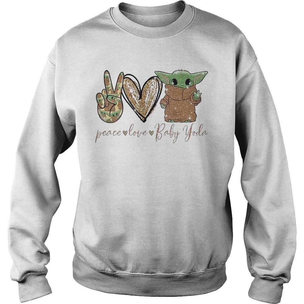 Peace Love Baby Yoda Sweater