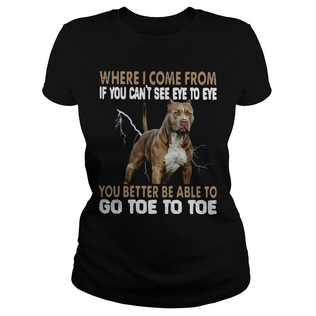 Pitbull Where I Come From If You Can't See Eye To Eye Go Toe To Toe Longsleeve