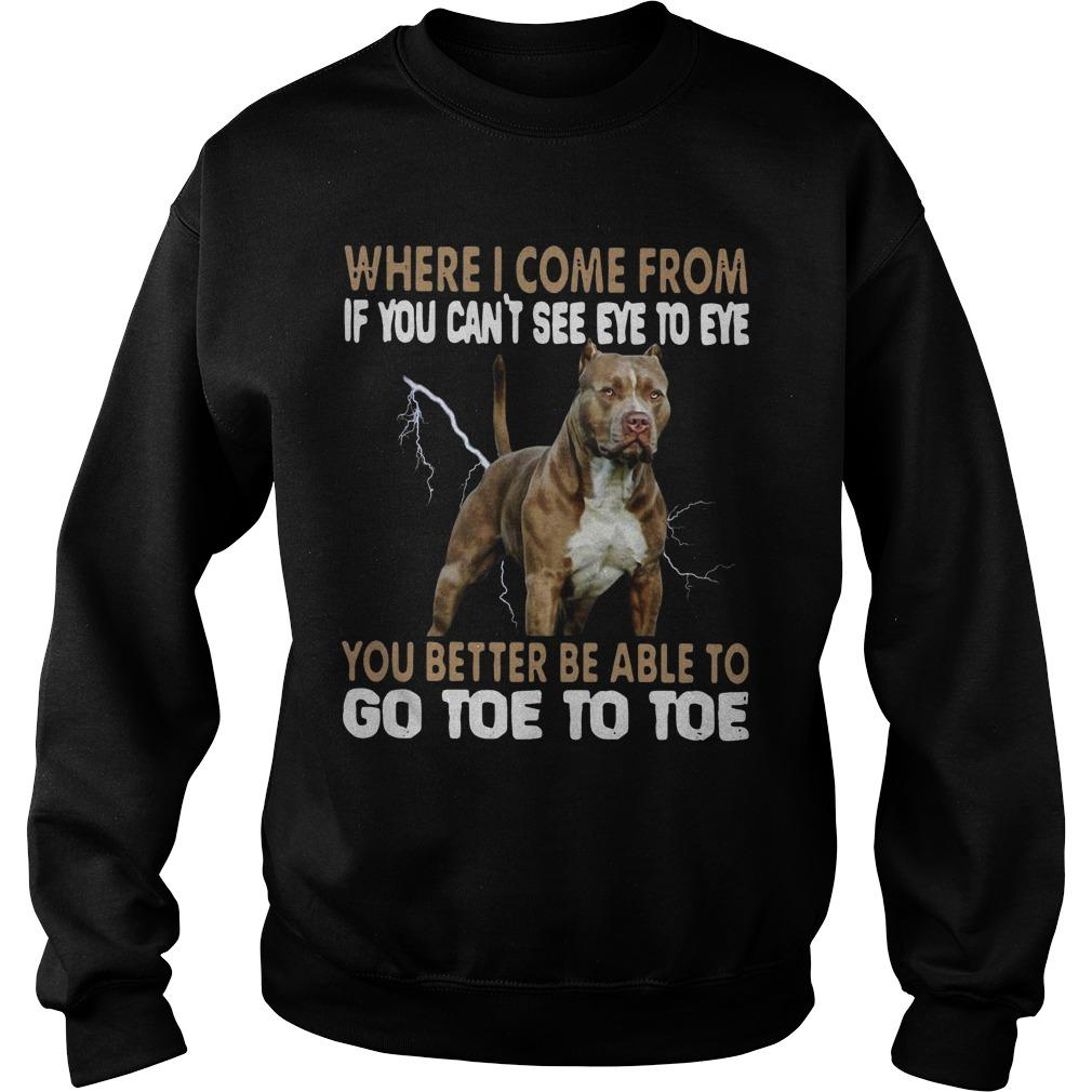 Pitbull Where I Come From If You Can't See Eye To Eye Go Toe To Toe Sweater