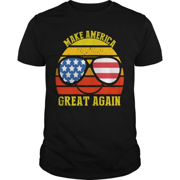 Vintage American Flag Make America Great Again Shirt