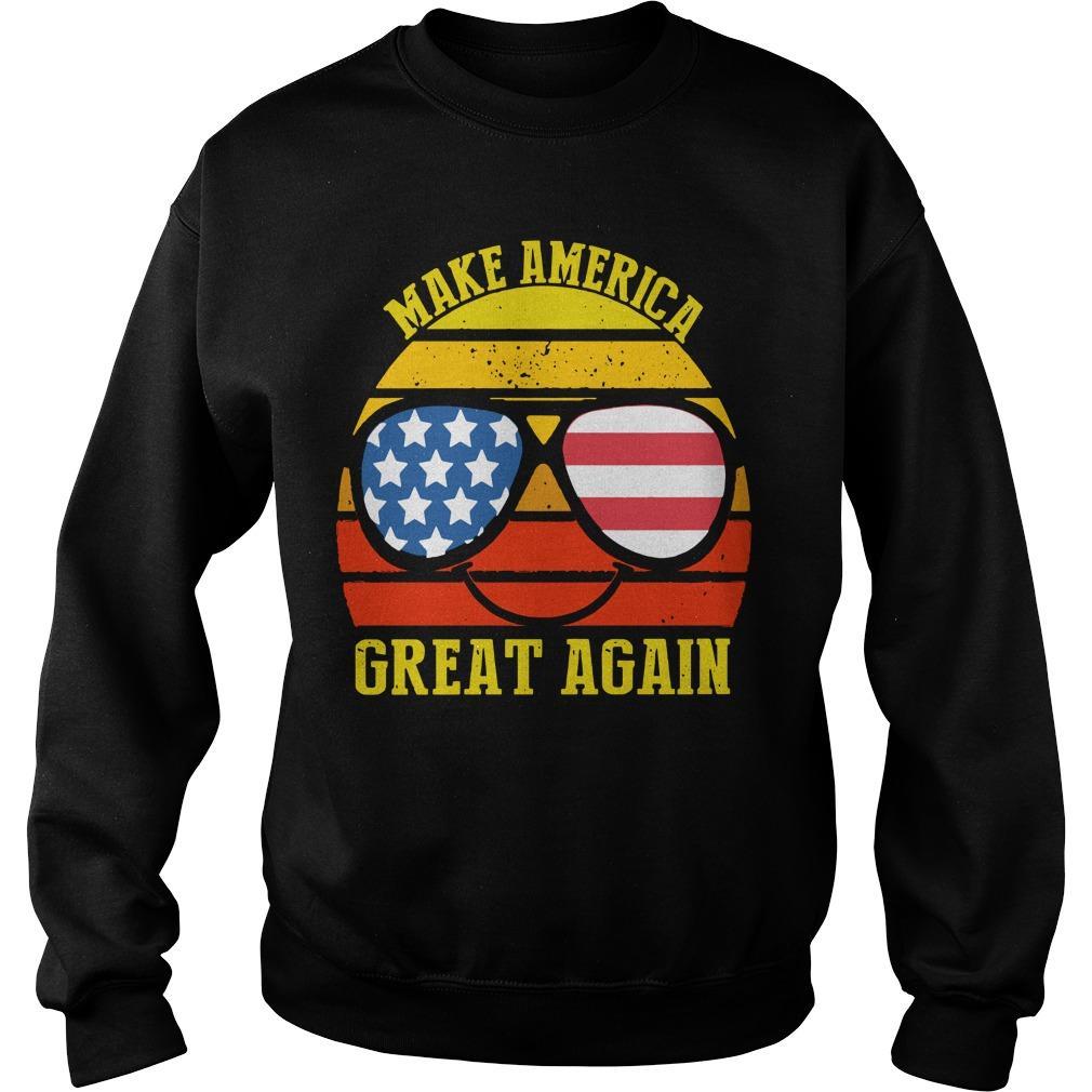 Vintage American Flag Make America Great Again Sweater