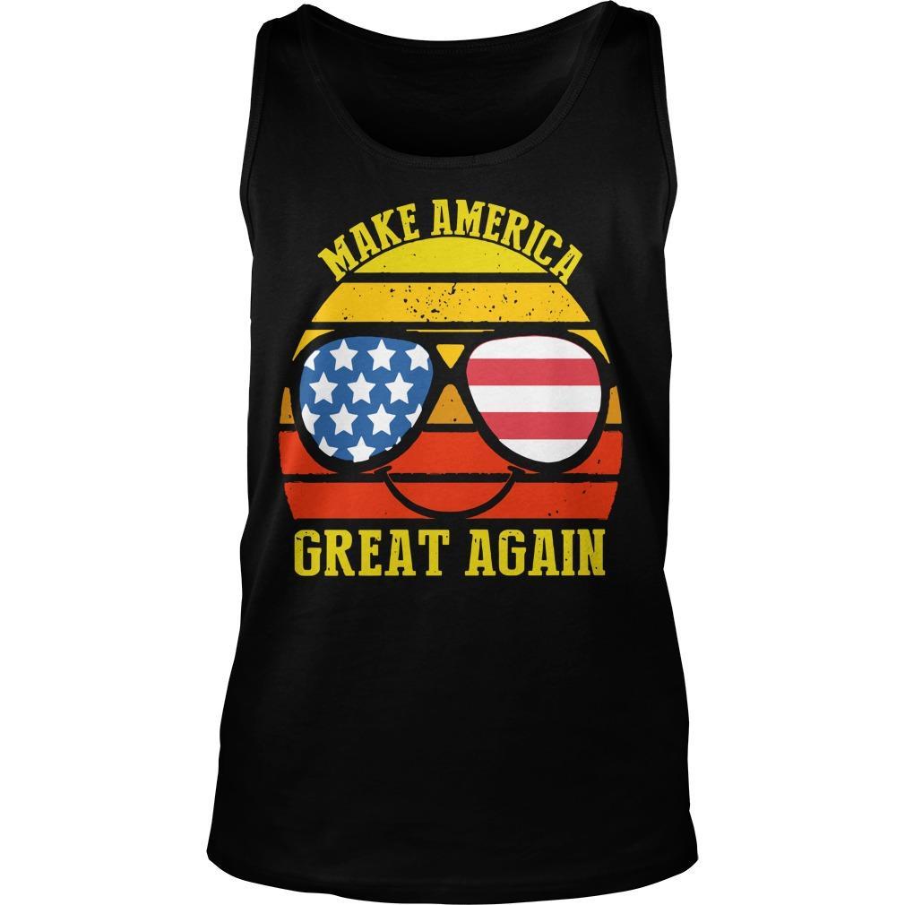 Vintage American Flag Make America Great Again Tank Top