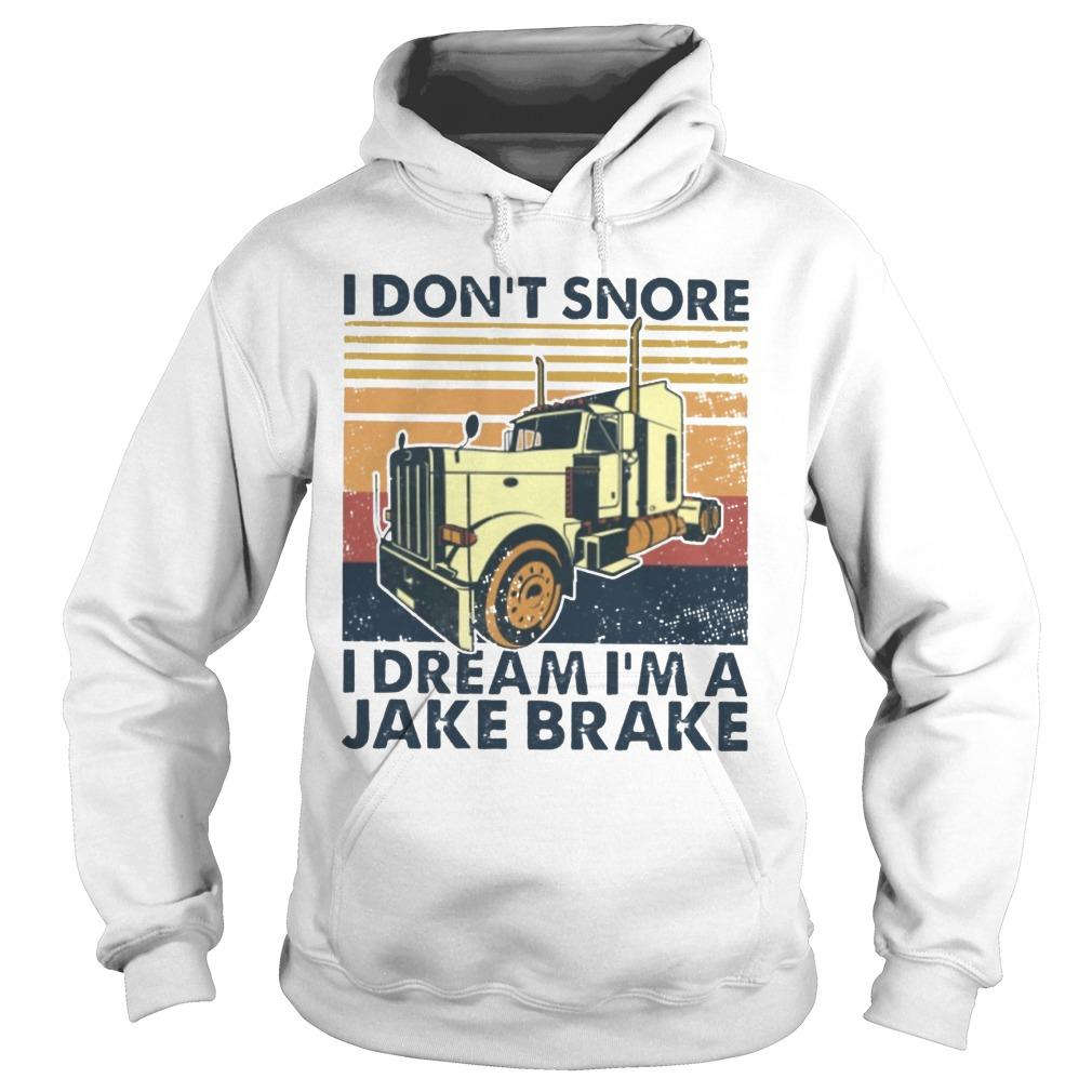 Vintage I Don't Snore I Dream I'm A Jake Brake Hoodie