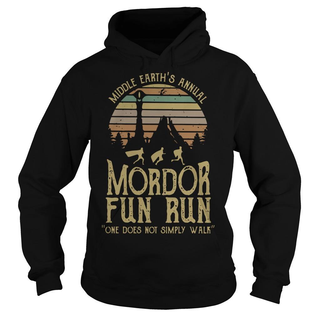 Vintage Middle Earth's Annual Mordor Fun Run Hoodie