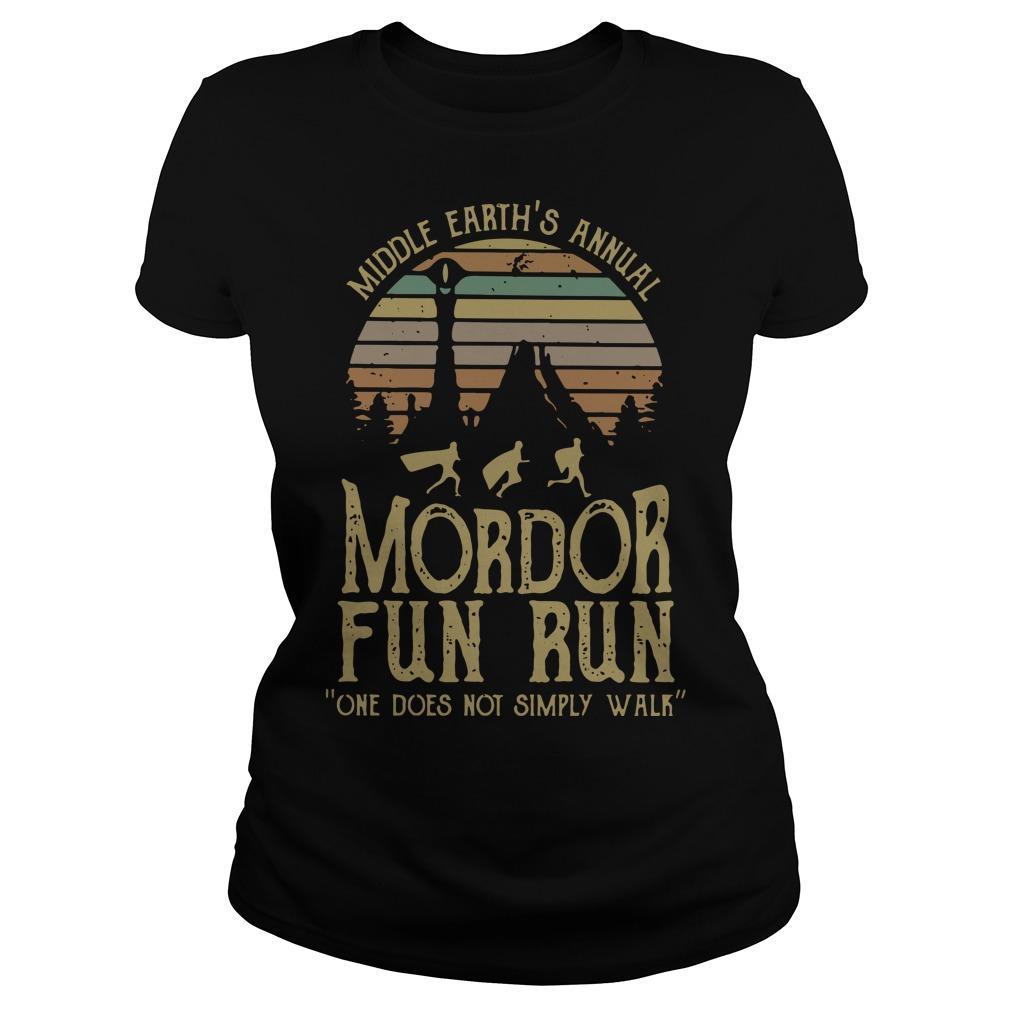 Vintage Middle Earth's Annual Mordor Fun Run Longsleeve