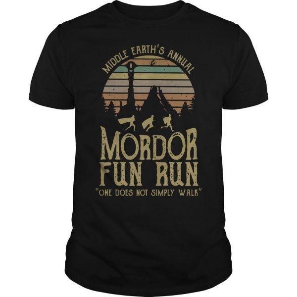Vintage Middle Earth's Annual Mordor Fun Run Shirt