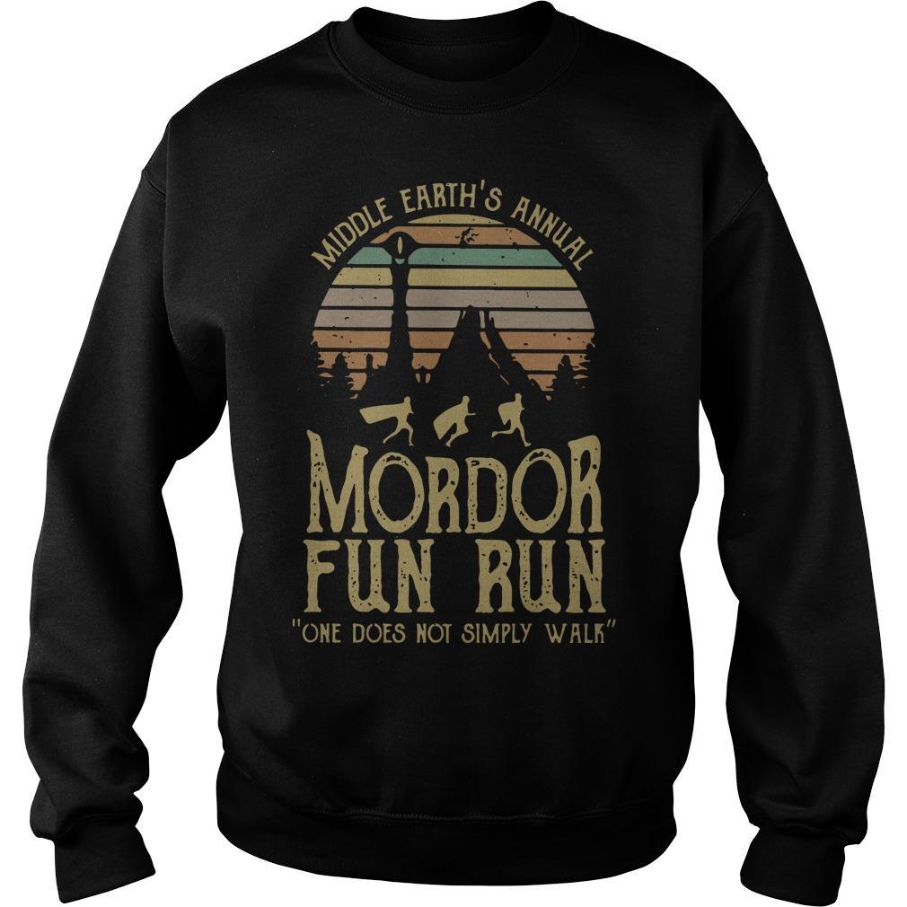 Vintage Middle Earth's Annual Mordor Fun Run Sweater