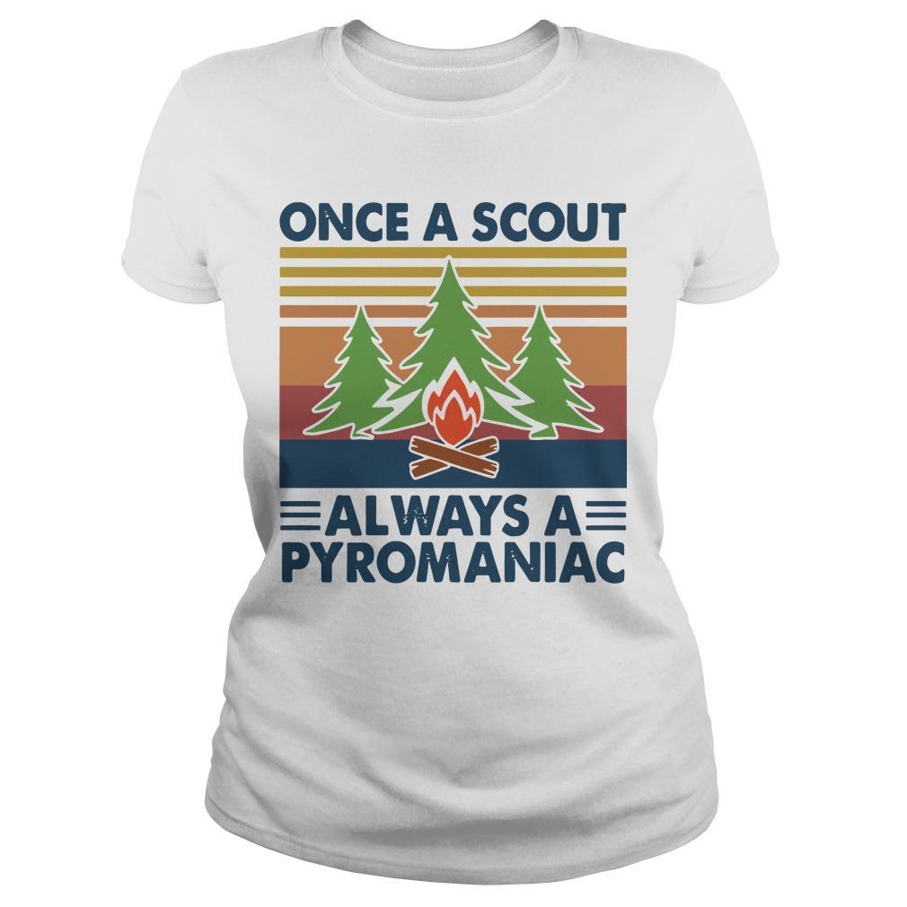 Vintage Once A Scout Always A Pyromaniac Longsleeve