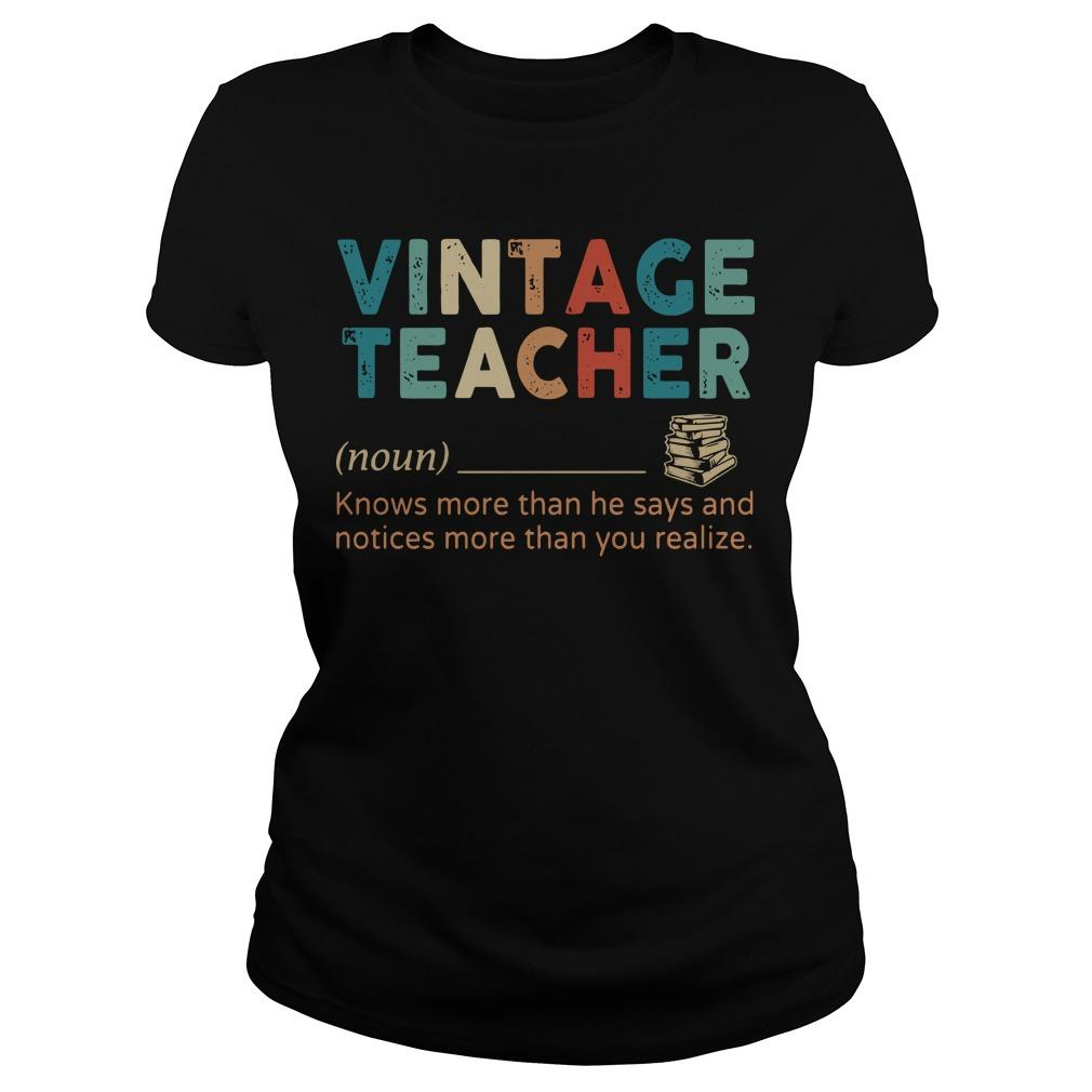 Vintage Teacher Knows More Than He Says Longsleeve