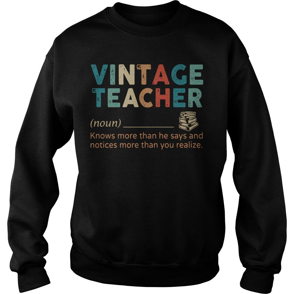 Vintage Teacher Knows More Than He Says Sweater