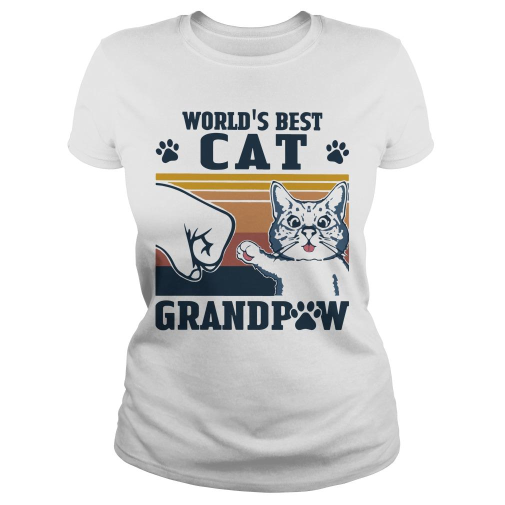 Vintage World's Best Cat Grandpaw Longsleeve