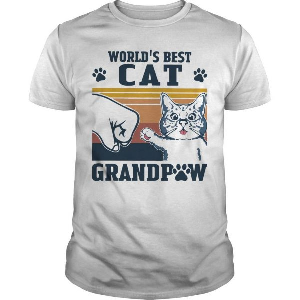 Vintage World's Best Cat Grandpaw Shirt