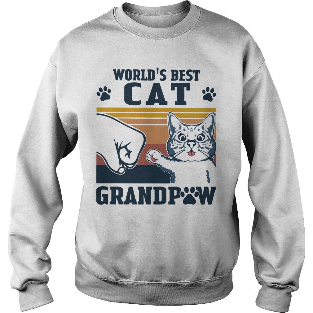 Vintage World's Best Cat Grandpaw Sweater