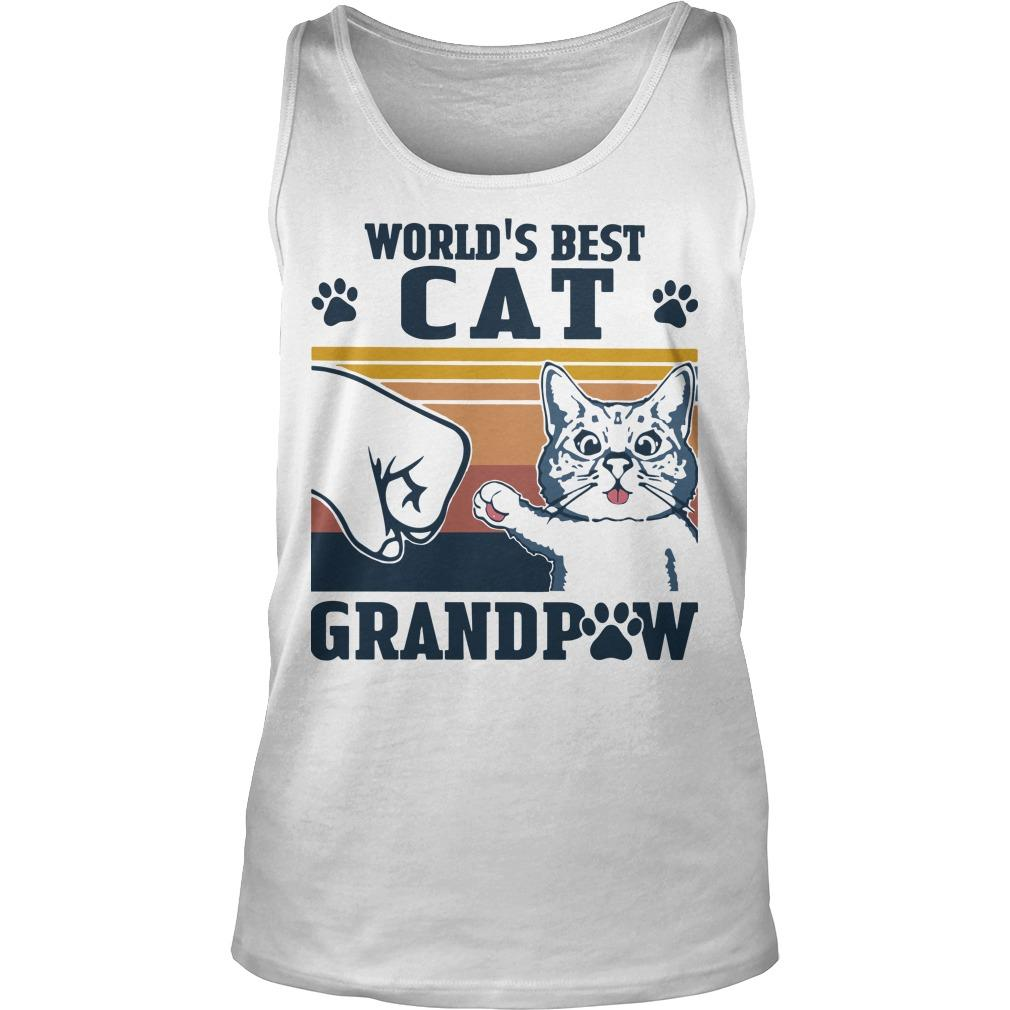 Vintage World's Best Cat Grandpaw Tank Top