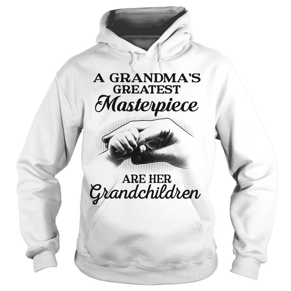 A Grandma's Greatest Masterpiece Are Her Grandchildren Hoodie